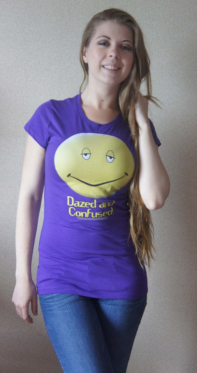 Dazed and Confused Smiley Face Ladies T-Shirt