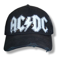 AC/DC Spikes Distressed Edge Truckers Cap