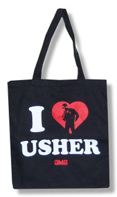 Usher Heart Tote Bag