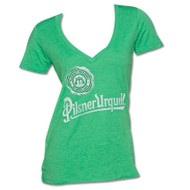 Pilsner 1842 Logo Womens V-Neck T-Shirt