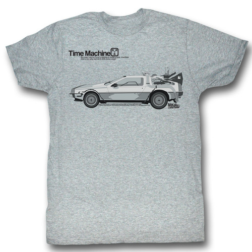 Back to the Future Delorean Time Machine Mens Tee Shirt