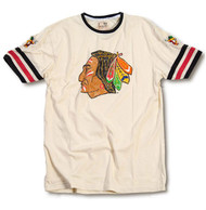 NHL Chicago Blackhawks Remote Contro Vintage Stylle Mens T-Shirt in Cream