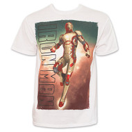 Iron Man Flying Sky Mens T-Shirt