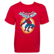 Spiderman The Spectacular Spiderman Web Mens T-Shirt
