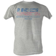 USFL Retro Logo Gray Mens Tee Shirt