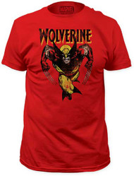 MARVEL TEES WOLVERINE - BASICS! MENS FITTED JERSEY TEE