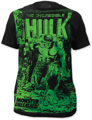MARVEL TEES THE INCREDIBLE HULK - MONSTER UNLEASHED MENS BIG PRINT SUBWAY TEE