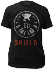 MARVEL TEES S.H.I.E.L.D. - LOGO MENS FITTED JERSEY TEE
