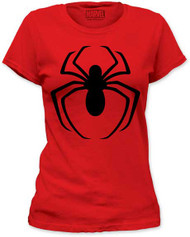 MARVEL TEES SPIDER-MAN - BLACK LOGO JUNIORS TEE JUNIORS TEE
