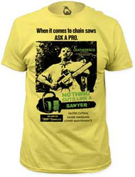 TEXAS CHAINSAW MASSACRE CUTS LIKE A SAWYER FITTED JERSEY TEE