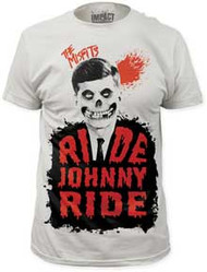 THE MISFITS RIDE JOHNNY RIDE MENS FITTED JERSEY TEE