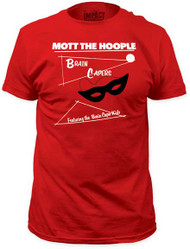 MOTT THE HOOPLE BRAIN CAPERS MENS FITTED JERSEY TEE