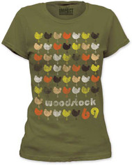 WOODSTOCK REPEATING DOVE JUNIORS FITTED JERSEY TEE