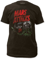 MARS ATTACKS SPACE ADVENTURE MENS FITTED JERSEY TEE