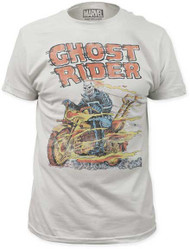 MARVEL TEES GHOST RIDER HELL ON WHEELS MENS FITTED JERSEY TEE