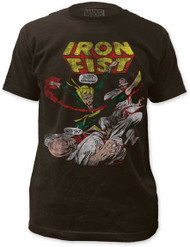 MARVEL TEES IRON FIST MENS FITTED JERSEY TEE