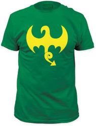 MARVEL TEES IRON FIST DRAGON LOGO MENS FITTED JERSEY TEE