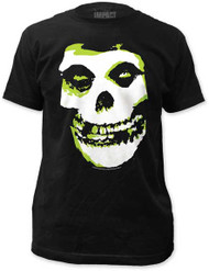 THE MISFITS GREEN FIEND MENS FITTED JERSEY TEE