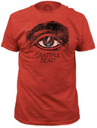 GRATEFUL DEAD GRATEFUL EYE MENS FITTED JERSEY TEE