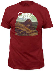 GRATEFUL DEAD WAKE OF THE FLOOD MENS FITTED JERSEY TEE