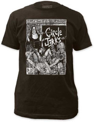 CIRCLE JERKS BAD RELIGION FITTED JERSEY TEE