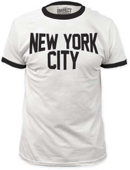 NEW YORK CITY RINGER FITTED JERSEY TEE