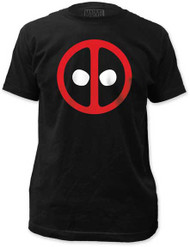 MARVEL TEES DEADPOOL LOGO FITTED JERSEY TEE
