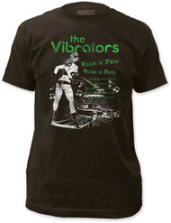 THE VIBRATORS WHIPS N FURS FITTED JERSEY TEE