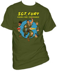 MARVEL TEES FURY COMMANDOS MENS TEE