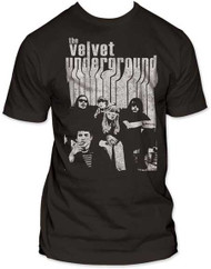 VELVET UNDERGROUND BAND WITH NICO MENS FITTED JERSEY TEE