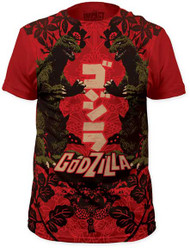 GODZILLA DUPLICITY BIG PRINT MENS SUBWAY TEE