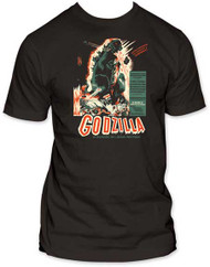GODZILLA VINTAGE POSTER FITTED JERSEY TEE