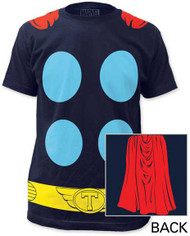 MARVEL TEES THOR SUIT WITH CAPE BIG PRINT SUBWAY TEE
