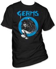 GERMS SKELETON IN LEATHER MENS TEE