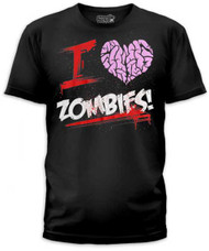 I HEART ZOMBIES MENS TEE