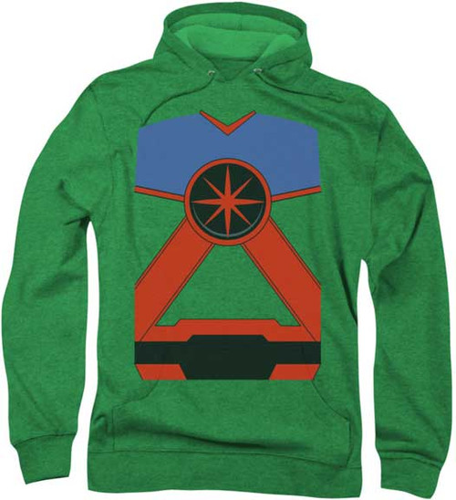 Justice League of America Martian Manhunter Costume Super Soft Hoodie