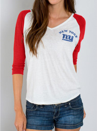Junk Food Womens New York Giants Raglan