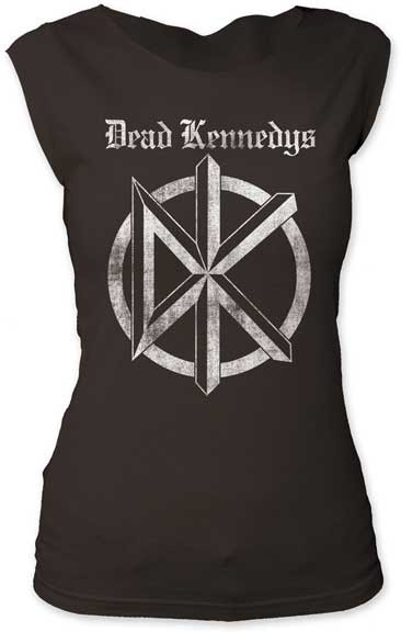 Womens The Dead Kennedys Old English Logo Cut Tee Shirt