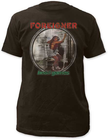 Mens Foreigner Head Games Tee Shirt