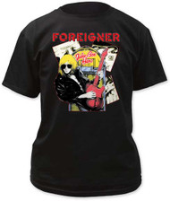 Mens Foreigner Juke Box Hero Tee Shirt
