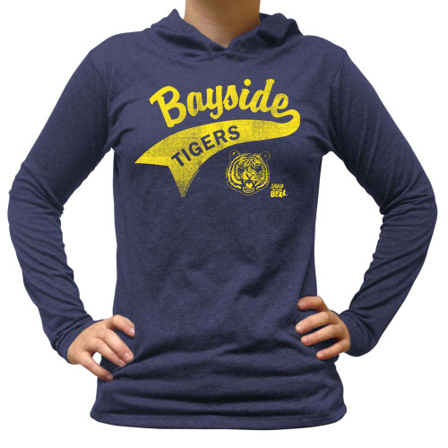 Saved by the Bell Bayside Tigers Ladies Long Sleeve Hooded Shirt