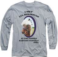 Mens Parks and Recreation Li'l Sebastian Long Sleeve Tee Shirt