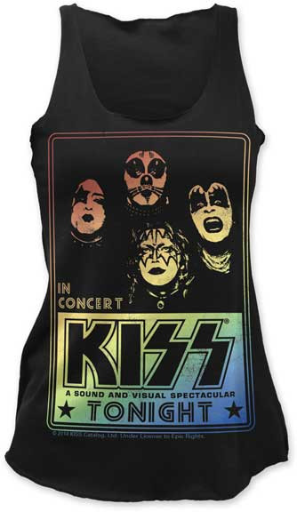 Womens Kiss In Concert Tank Top