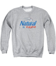 Adult Natural Light Logo Crew Neck Sweatshirt
