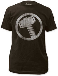 Mens Avengers Assemble Thor Distressed Icon Tee Shirt
