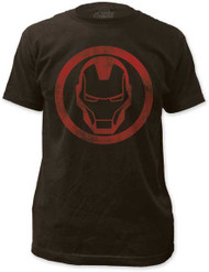 Mens Avengers Assemble Iron Man Distressed Icon Tee Shirt