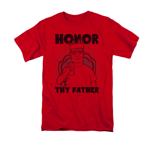 Mens King of the Hill Honor Thy Father Tee Shirt