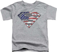 Superman USA Flag Toddler Tee Shirt