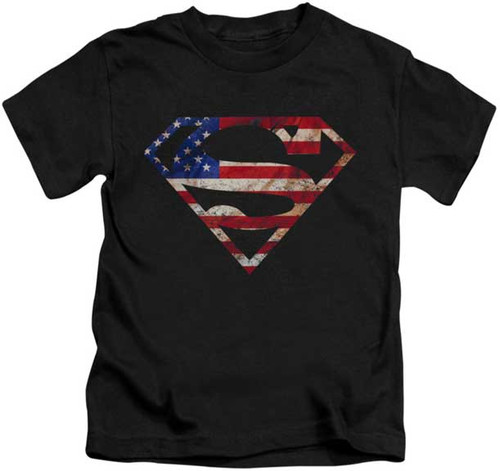 Superman Super Patriot Toddler Tee Shirt