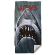 Jaws Poster Sublimation Beach Towel